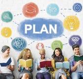 Plan grafiki pojęcia Planistyczni ludzie biznesu Obrazy Stock