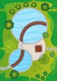 Plan/het Ontwerp van het Landschap en van de Tuin Royalty-vrije Stock Fotografie