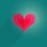 Plan hjärta för singel Arkivbilder