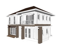 Plan Home Design Royalty Free Stock Photo