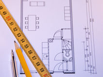 Plan home drawing Royalty Free Stock Image