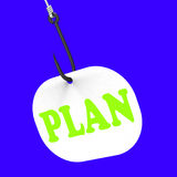 Plan On Hook Shows Planned Objectives And Mission Royalty Free Stock Photography