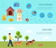 Plan horisontalbanersammansättning för hund 2 Arkivbilder