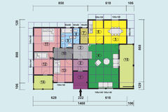 Plan house Stock Images