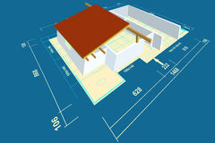 Plan house Royalty Free Stock Images