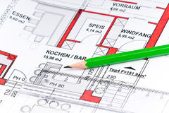 Plan of a house Stock Photography