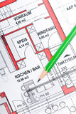 Plan of a house Royalty Free Stock Image