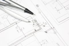 Plan for house Stock Images