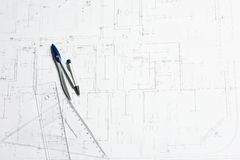 Plan for house Stock Photography