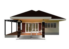 Plan House 3D illustration. Royalty Free Stock Images
