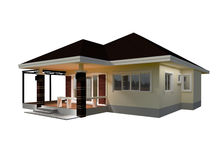 Plan House 3D illustration. Royalty Free Stock Image