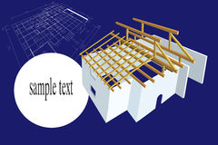 Plan house illustration Stock Image