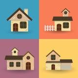 Plan husuppsättning vektor illustrationer