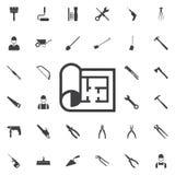 Plan icon royalty free illustration