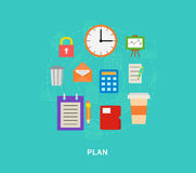 Plan icons illutration. Art Royalty Free Stock Image