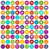 100 plan icons set color. 100 plan icons set in different colors circle isolated vector illustration stock illustration