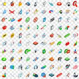 100 plan icons set, isometric 3d style. 100 plan icons set in isometric 3d style for any design vector illustration royalty free illustration