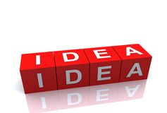 Plan Idea Block Royalty Free Stock Image