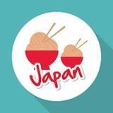 Plan illustration av den Japan designen Royaltyfria Foton