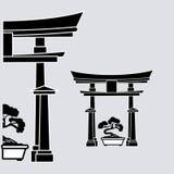 Plan illustration av den Japan designen Arkivbild