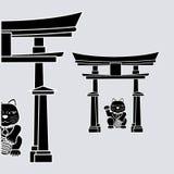Plan illustration av den Japan designen Arkivbilder