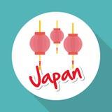Plan illustration av den Japan designen Arkivfoto