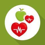 Plan illustration av den sunda livsstildesignen Royaltyfri Fotografi