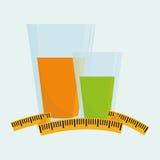 Plan illustration av den sunda livsstildesignen Royaltyfri Bild