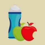 Plan illustration av den sunda livsstildesignen Arkivbild
