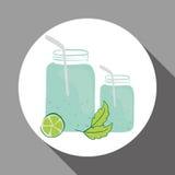 Plan illustration av den sunda livsstildesignen Arkivfoto
