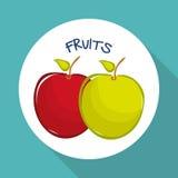 Plan illustration av fruktdesignen Royaltyfri Bild