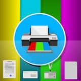 Plan illustration av kontoret Arkivfoton