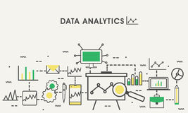 Plan illustration för Analytics för affärsdata Arkivfoto