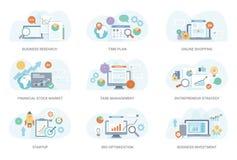 Plan illustration för finans royaltyfri illustrationer