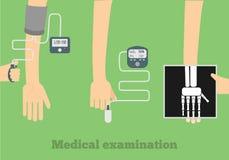 Plan illustration för läkarundersökning Arkivfoton
