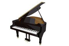 Plan illustration för piano Arkivfoto
