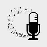 Plan illustration om musikdesign Arkivfoton