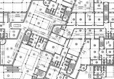 Plan inconsútil del modelo del edificio Vista superior del fondo arquitectónico del vector libre illustration