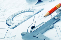 The plan industrial details Royalty Free Stock Images