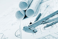 The plan industrial details Stock Image