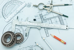 The plan industrial details Stock Photo