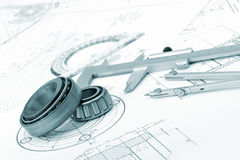 The plan industrial details Royalty Free Stock Photo