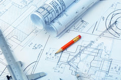 The plan industrial details Royalty Free Stock Photography