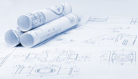 The plan industrial details Royalty Free Stock Photos