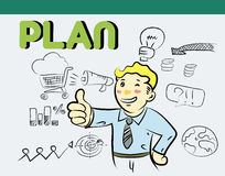 Plan info graphic Stock Images