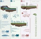 Plan infographics circuit renewable green energy Stock Image