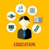Plan infographicsmall för utbildning royaltyfri illustrationer
