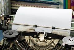 Plan: Inscripción del vintage hecha por la máquina de escribir vieja fotografía de archivo