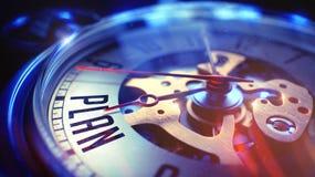 Plan - inscription sur l'horloge de poche de vintage 3d rendent Photo stock