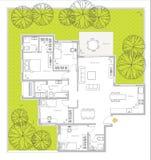 Plan interior Fotografía de archivo libre de regalías